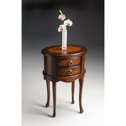 Butler Plantation Cherry Oval Side Table