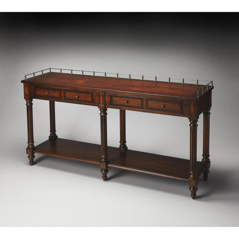 Butler Plantation Cherry Sofa Table