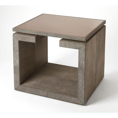 Butler Pruitt Brown Leather End Table
