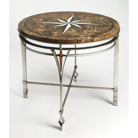 Butler Regina Fossil Stone & Metal Foyer Table