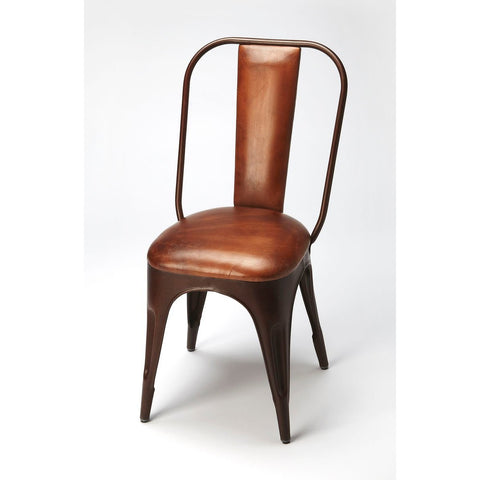 Butler Riggins Iron & Leather Side Chair