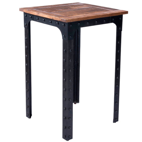Butler River Wood & Metal Pub Table