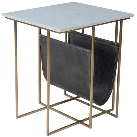 Butler Stephanik Marble & Leather Magazine Table