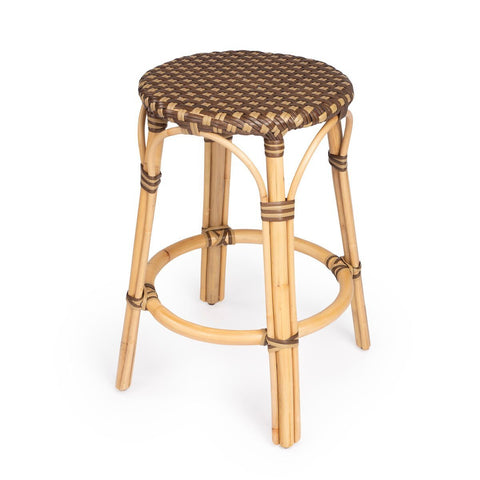 Butler Tobias Brown Rattan Counter Stool