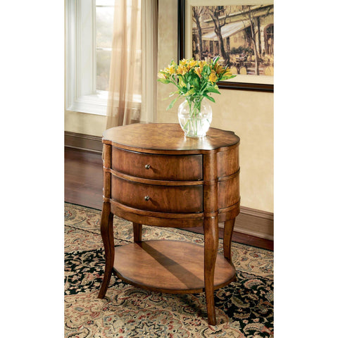 Butler Transitions Jarvis Oval Side Table In Umber