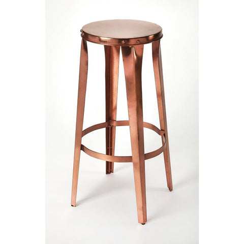 Butler Ulrich Copper Backless Barstool