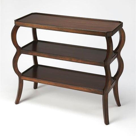 Butler Vernon Plantation Cherry 3-Tier Console Table