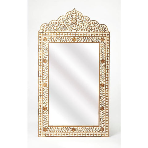 Butler Vivienne Wood & Bone Inlay Mirror