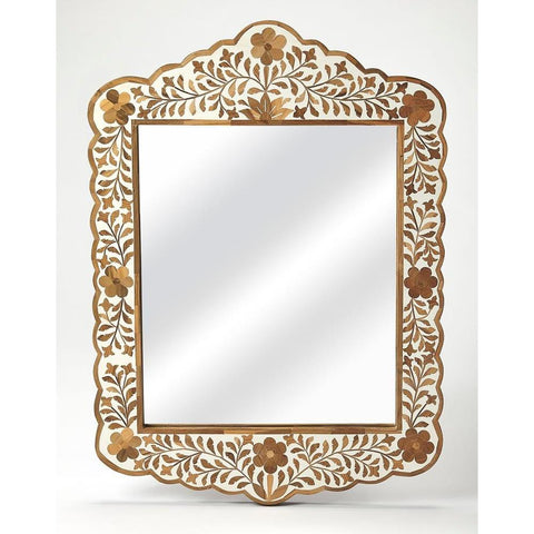 Butler Vivienne Wood & Bone Inlay Wall Mirror