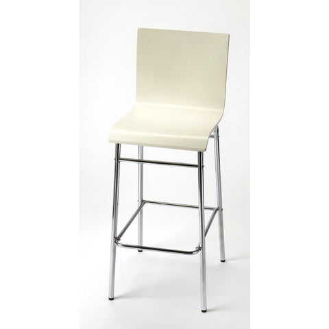 Butler Watney White Bar Stool