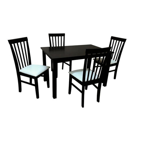 Camden Isle Fairfax 5 Piece Dining Room Set in Cappucino