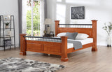 Camden Isle Newport Wooden Platform Bed in Cherry