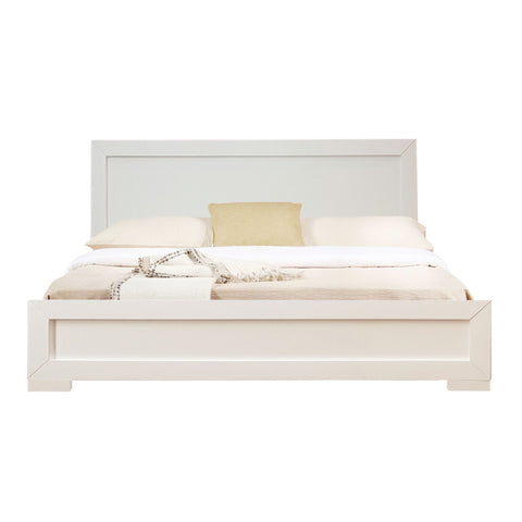 Camden Isle Trent Wooden Platform Bed in White