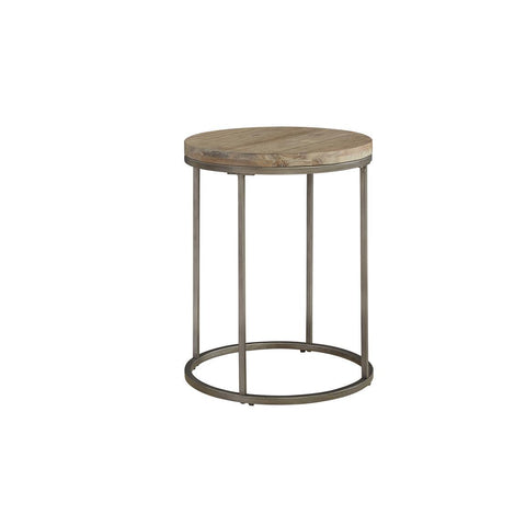 Casana Alana Round End Table with Acacia Wood Top
