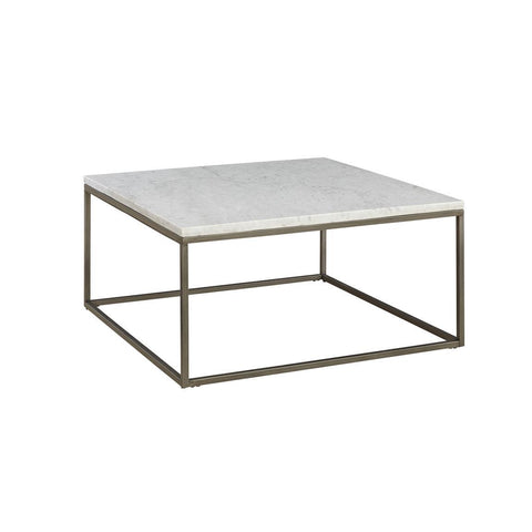 Casana Alana Square Coffee Table with White Marble Top