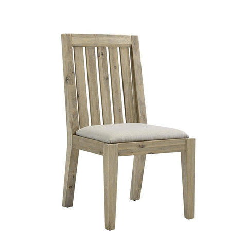 Casana Harbourside Slat Back Side Chair in Weathered & Oatmeal