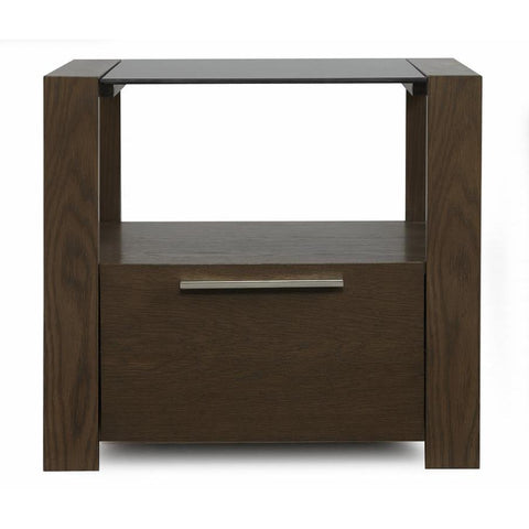 Casana Hudson End table with glass top