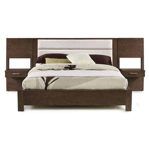 Casana Hudson Upholstered Platform Bed With Panel Nightstands