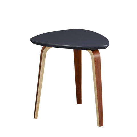 Casana Tisdale Triangle Small End Table in Ebony