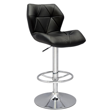 Chintaly 0310 Diamond Effect Pneumatic Gas Lift Height Swivel Stool In Black