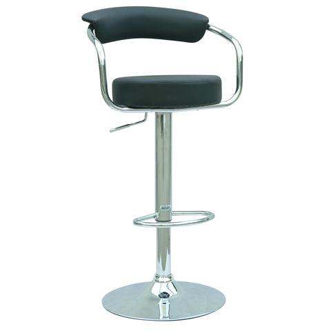 Chintaly 0326 Pneumatic Gas Lift Adjustable Height Swivel Stool In Black