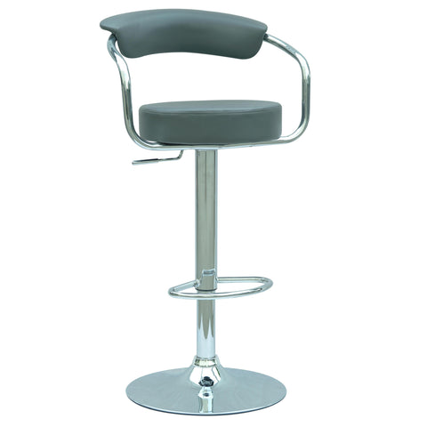 Chintaly 0326 Pneumatic Gas Lift Adjustable Height Swivel Stool In Dark Grey