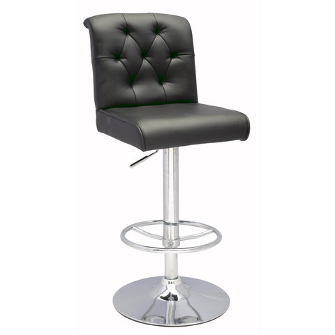 Chintaly 0355 Pneumatic Gas Lift Height Swivel Stool In Black