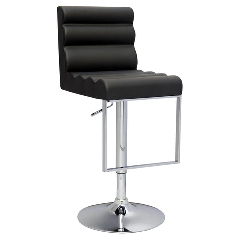 Chintaly 0357 Pneumatic Gas Lift Swivel Height Stool In Black