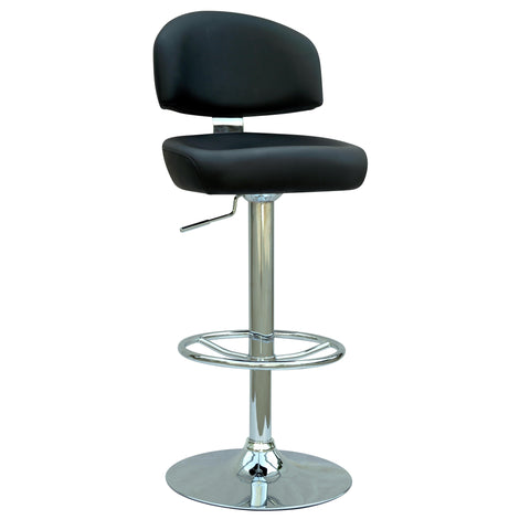 Chintaly 0362 Pneumatic Gas Lift Adjustable Height Swivel Stool In Black