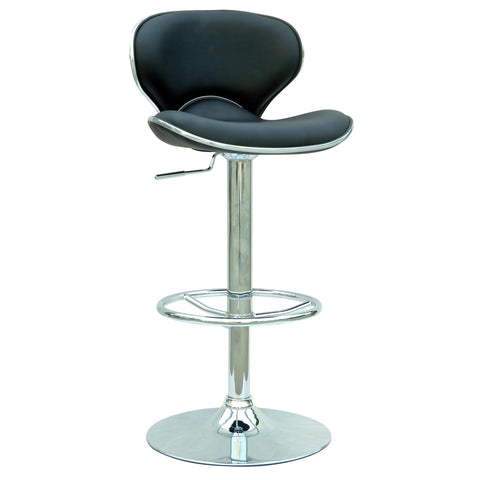 Chintaly 0364 Pneumatic Gas Lift Adjustable Height Swivel Stool In Black