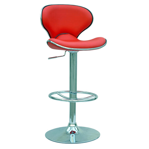 Chintaly 0364 Pneumatic Gas Lift Adjustable Height Swivel Stool In Red