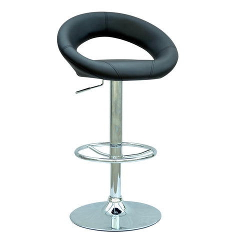 Chintaly 0379 Pneumatic Gas Lift Adjustable Height Swivel Stool In Black