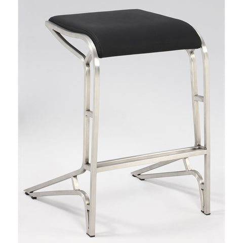 Chintaly 0568 Backless Contemporary Counter Stool In Black