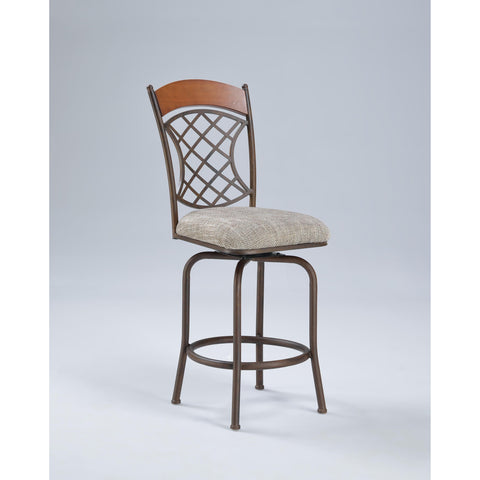 Chintaly 0782 Memory Return Swivel Stool In Neutral Weave
