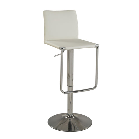 Chintaly 0801 Low Back Pneumatic Stool In White