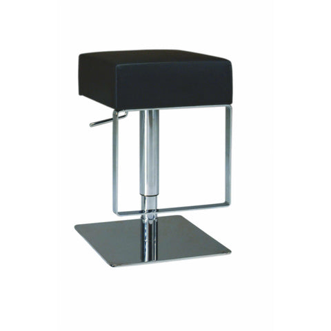 Chintaly 0811 Pneumatic Gas Lift Adjustable Height Swivel Stool In Black