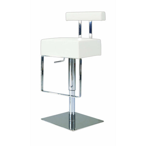 Chintaly 0812 Pneumatic Gas Lift Adjustable Height Swivel Stool In White