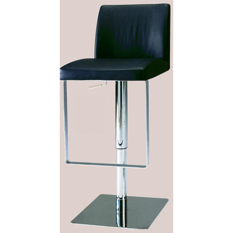 Chintaly 0813 Pneumatic Gas Lift Adjustable Height Swivel Stool In Black