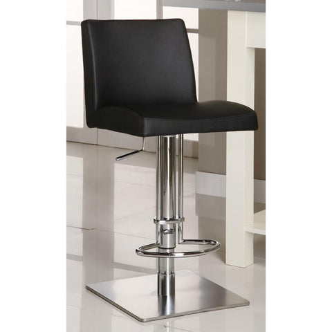 Chintaly 0814 Pneumatic Gas Lift Adjustable Height Swivel Stool In Black