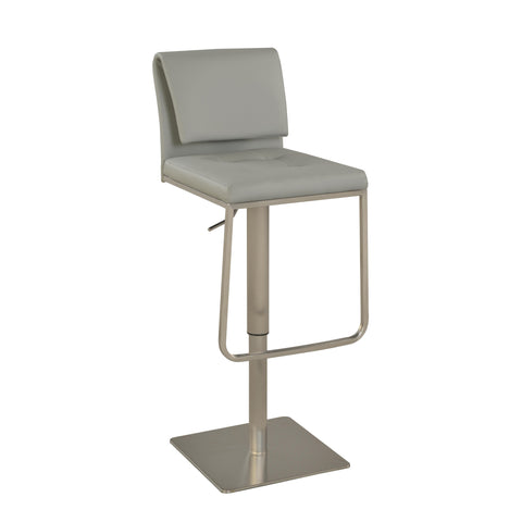 Chintaly 0893 Contemporary Pneumatic Stool In Gray