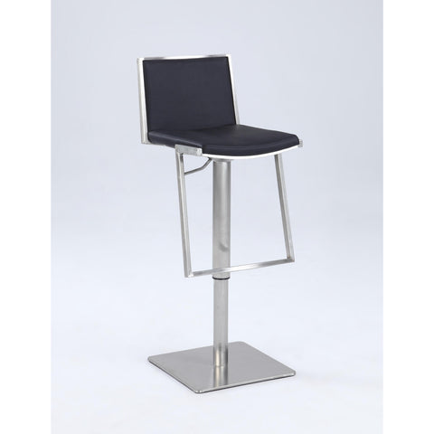 Chintaly 0894 Contemporary Pneumatic Stool In Black