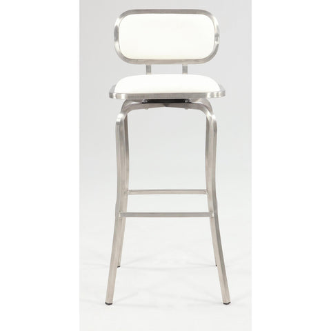 Chintaly 1192 Modern Swivel Bar Stool In White