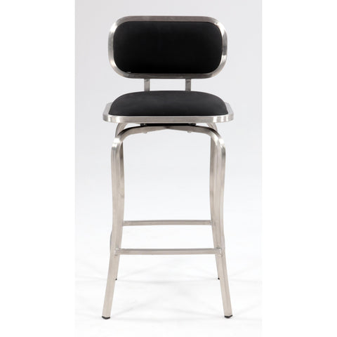 Chintaly 1192 Modern Swivel Counter Stool In Black