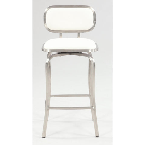 Chintaly 1192 Modern Swivel Counter Stool In White