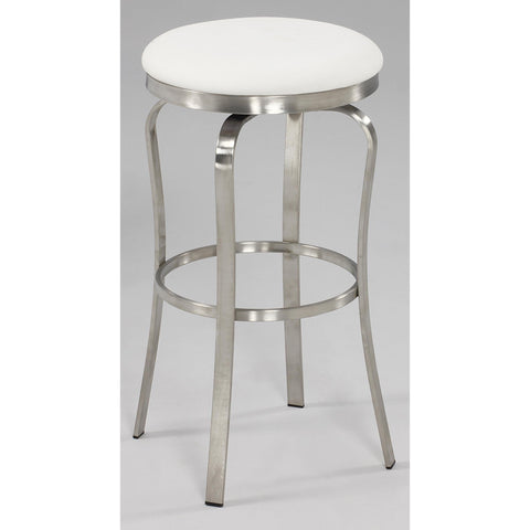 Chintaly 1193 Modern Backless Bar Stool In White