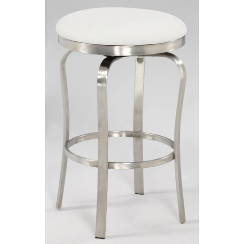 Chintaly 1193 Modern Backless Counter Stool In White