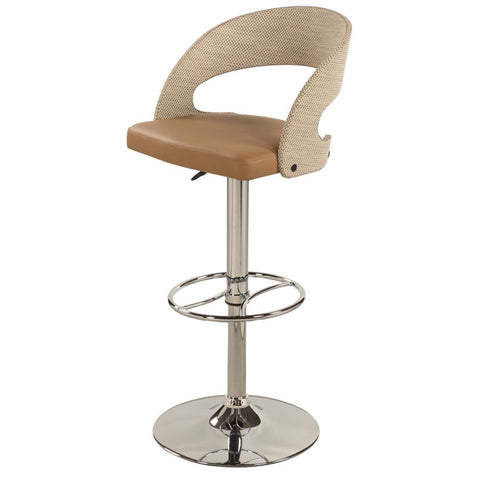 Chintaly 1391 Curved Round Back Pneumatic Stool In Khaki