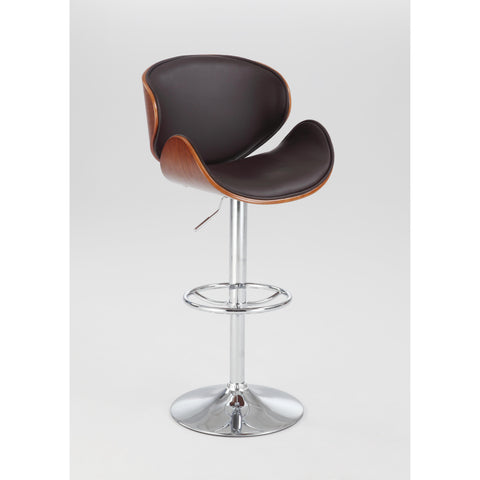 Chintaly 1403 Oversized Pneumatic Swivel Stool In Brown