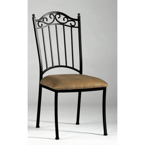 Chintaly 710 Wrought Iron Side Chair In Antique Taupe
