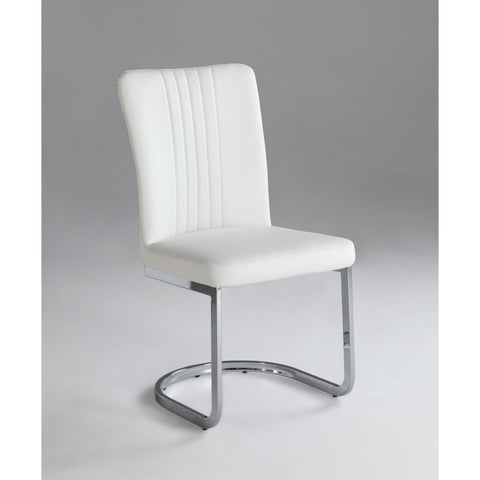 Chintaly Alina Cantilever Side Chair In Chrome